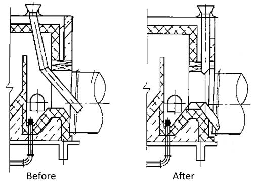 feeding method improvement of rotary drum dryer