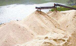 river sand producing