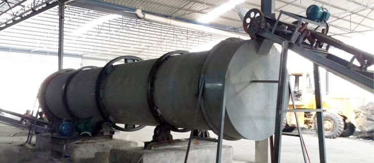 rotary dryer used to dry chicken manure