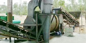small three pass rotary sand drying system