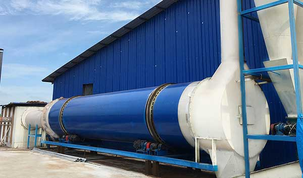 the set up rotary drum dryer